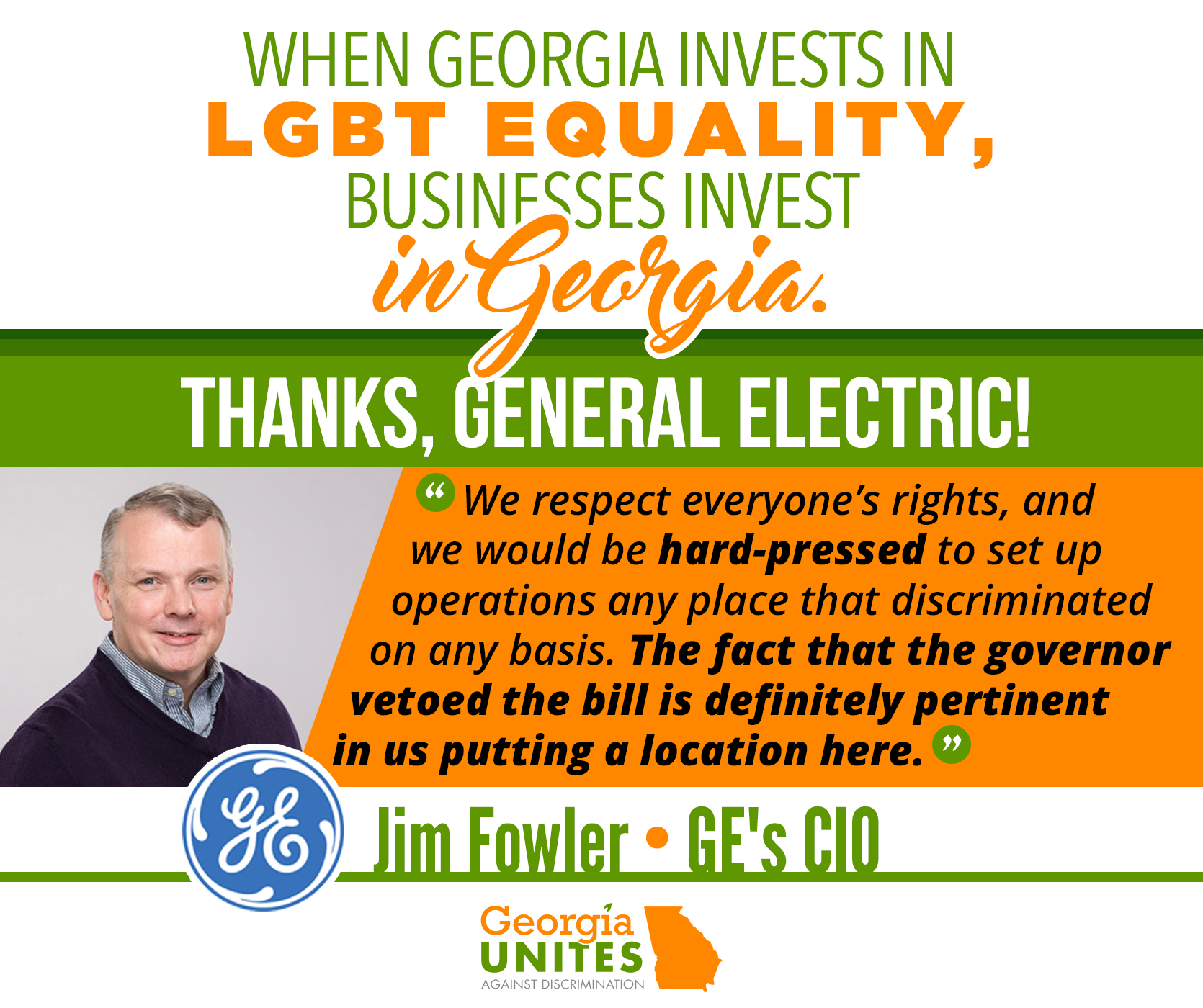 GE Says HB 757 Veto Helped Bring Its Digital Headquarters to Atlanta