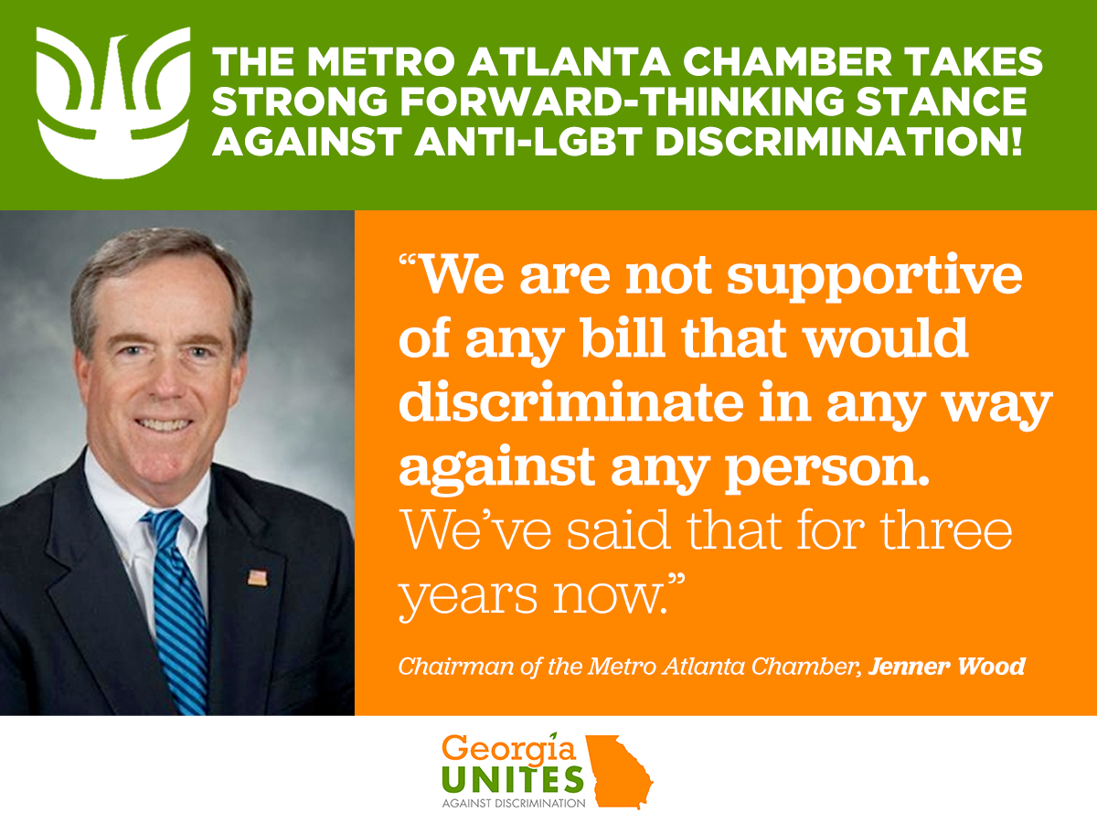 Metro ATL Chamber Reiterates Commitment to Equality, Says It Will Oppose All Anti-LGBT Legislation in 2017