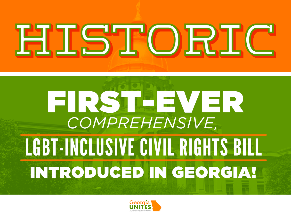 Lawmakers Introduce Historic Civil Rights Bill That Includes Nondiscrimination Protections for LGBT Georgians