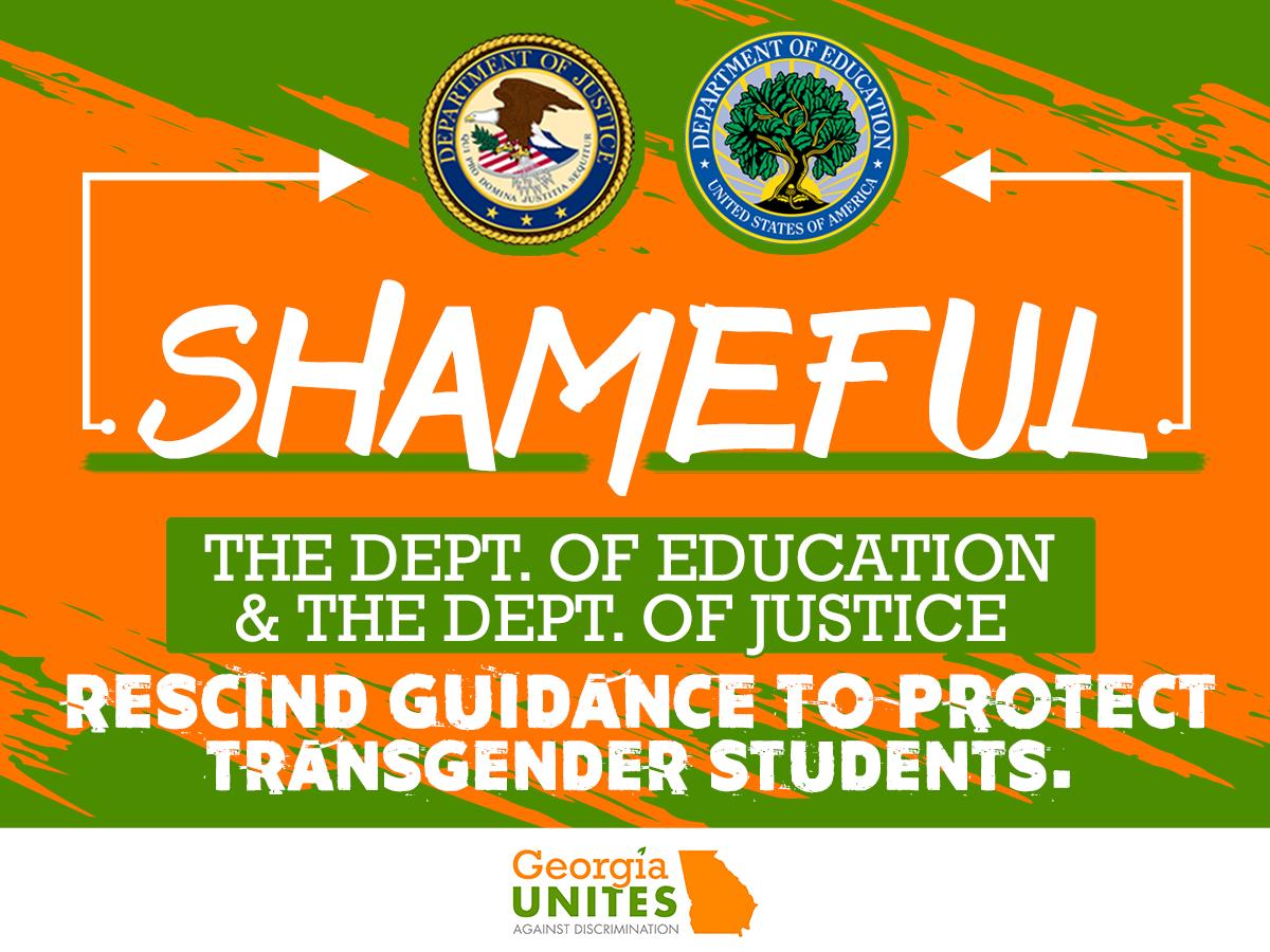 BREAKING: DOJ & DOE Reverse Position on Protections for Transgender Students
