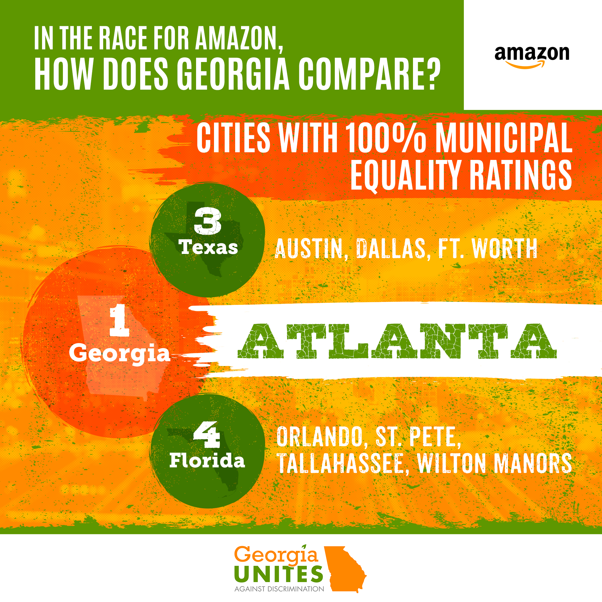 In the Race for Amazon's HQ2, How Does Georgia Compare to Its Peers in Terms of LGBT-Inclusivity?