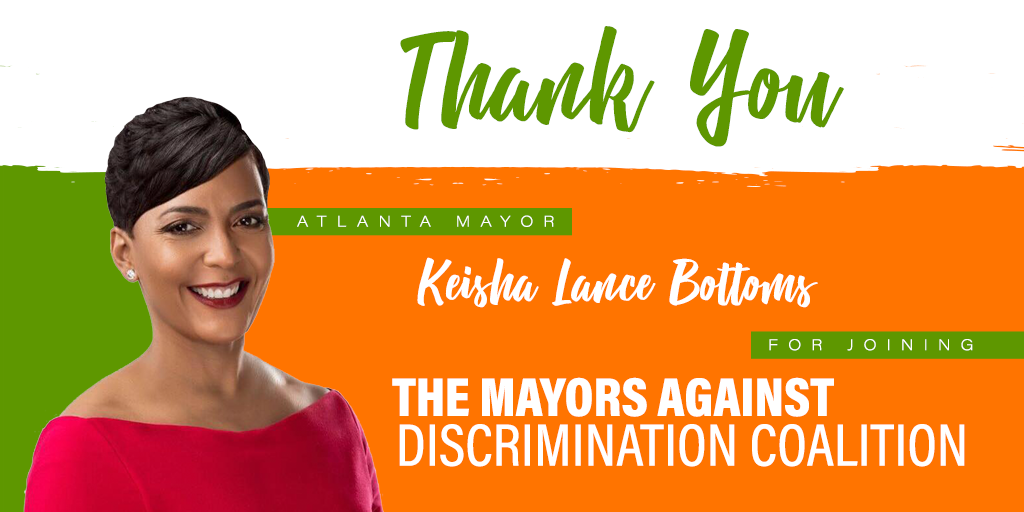 Atlanta Mayor Keisha Lance Bottoms Joins National Coalition Against Anti-LGBT Discrimination