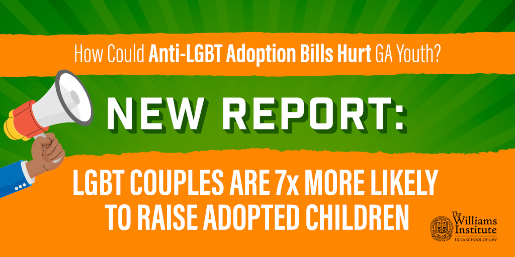 New Report From UCLA's Williams Institute: Same-Sex Couples More Likely To Foster and Adopt Children