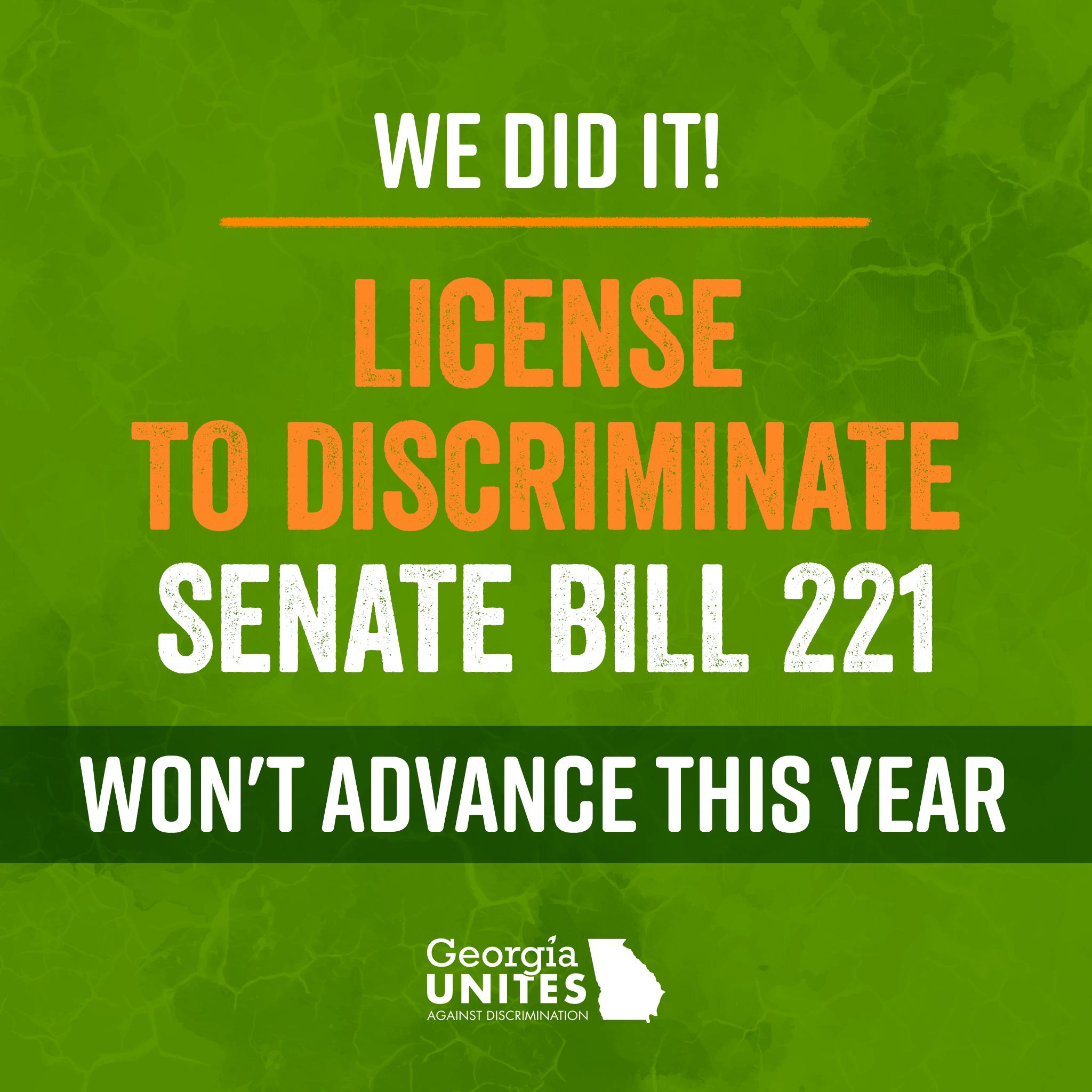 Senate Bill 221 Blocked for 2019, But The Threat of Anti-LGBTQ Amendments Remains